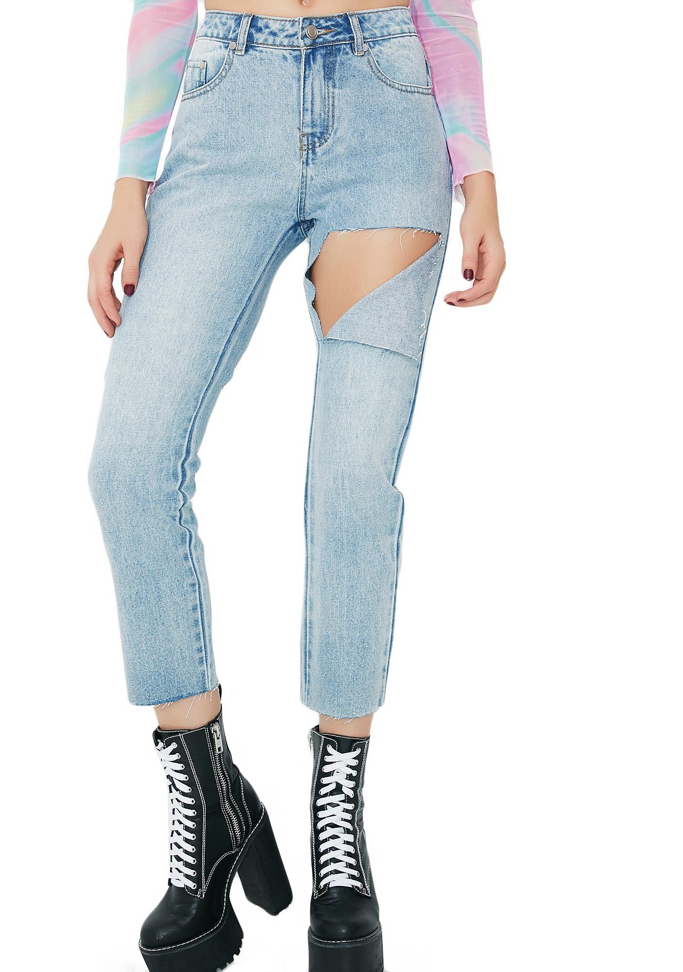 Just For Kicks Ripped Jeans