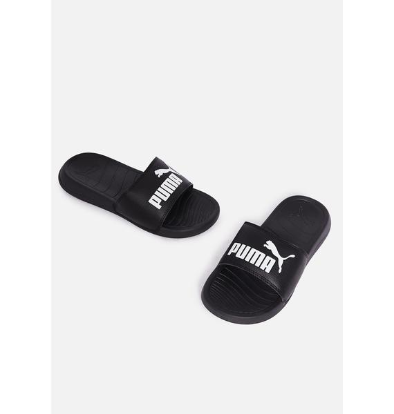 PUMA Black Popcat 20 Slide Sandals