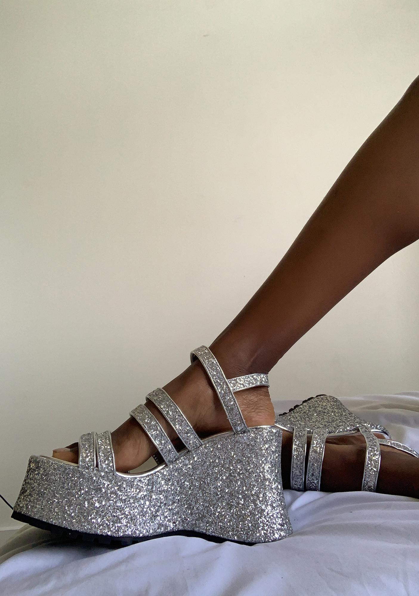 dELiA*s by Dolls Kill Left In The Dust Platform Sandals