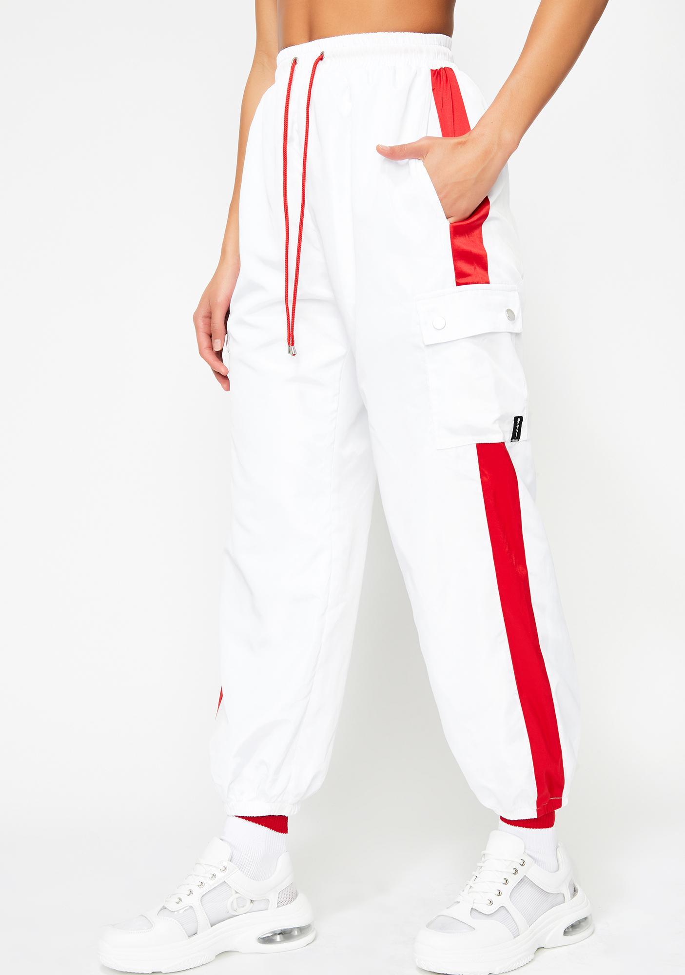 bac43f7a9a83 Poster Grl Red Stripe Track Pants | Dolls Kill