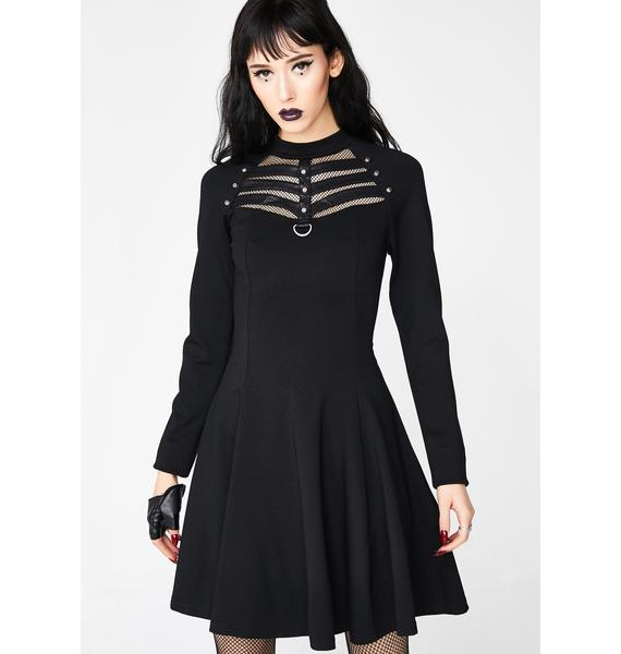 Punk Rave Daily High Elastic Knitted Punk Dress