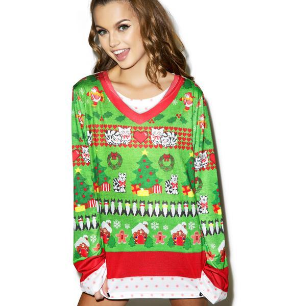 Cat Lady Sweater Tee