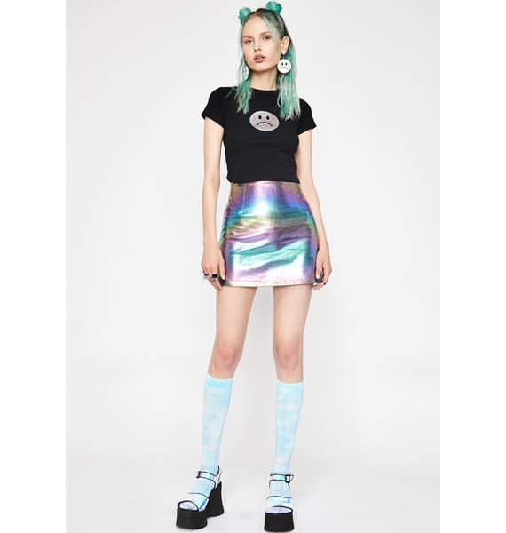 HOROSCOPEZ Opal Dreamer Metallic Skirt