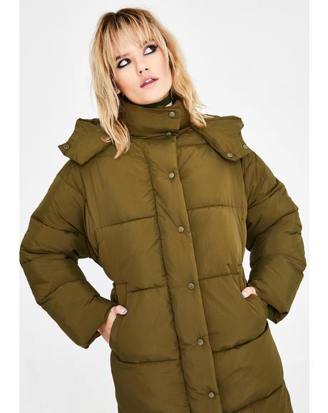 Longline Puffer Jacket