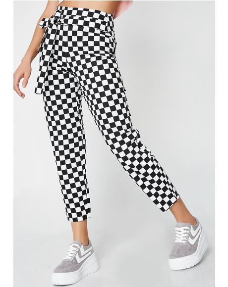 Checkered Tie Trousers