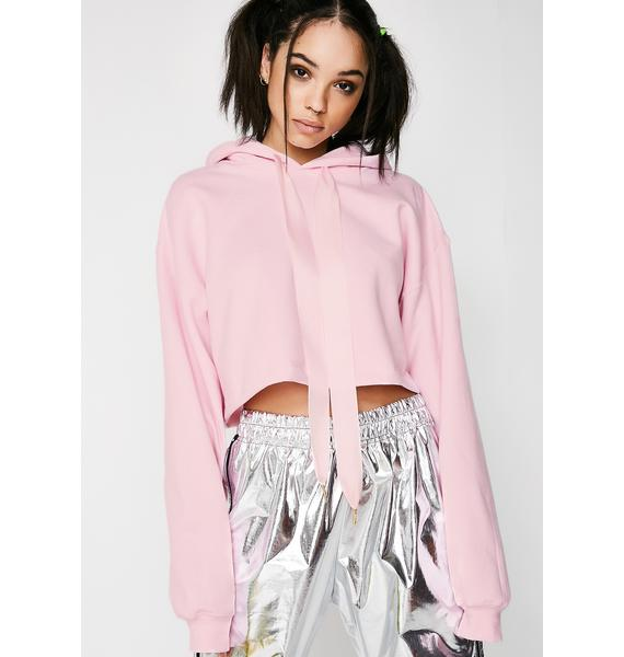 Untitled & Co Bow Crop Hoodie