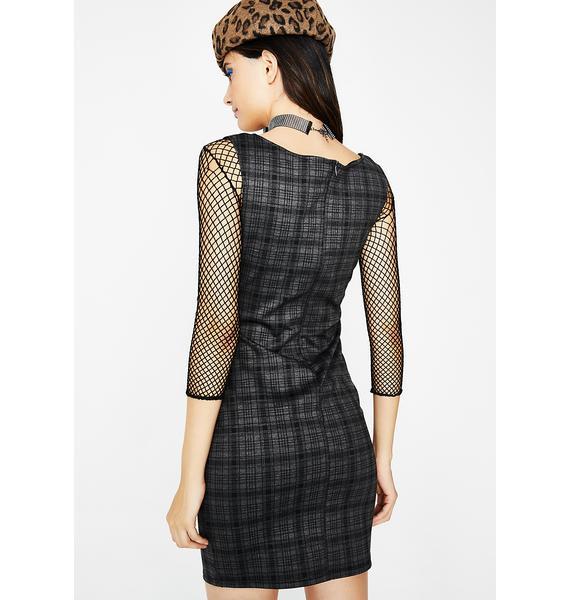 Sherlock Homie Plaid Dress