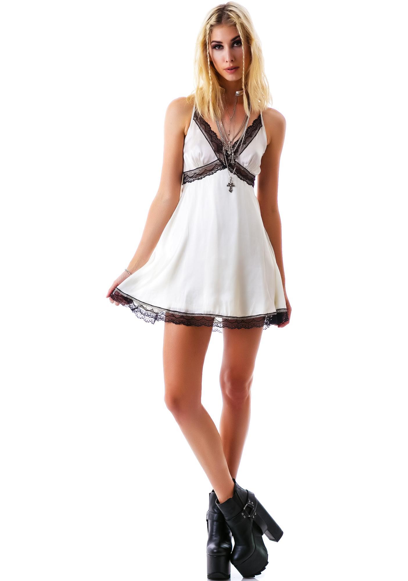 Sweet Cream Lace Cami Dress