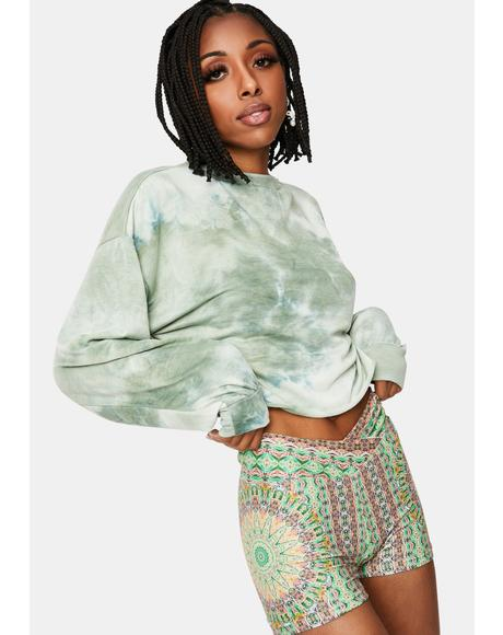 Sage Ultimate Crush Tie Dye Crewneck Sweatshirt