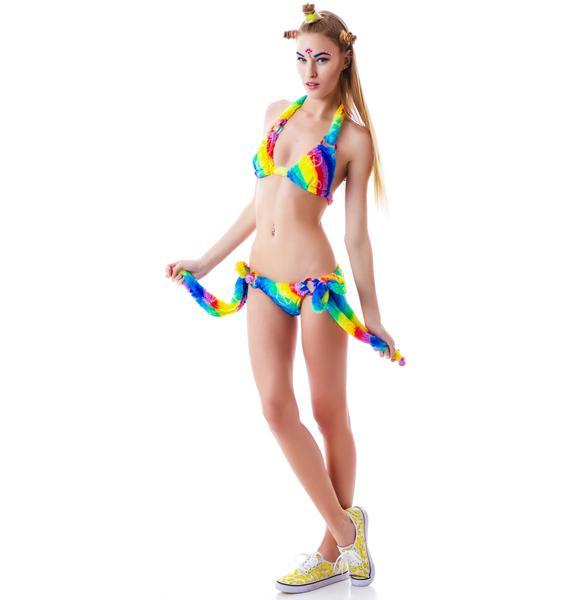 J Valentine Rainbow Furry Cuddle Bikini