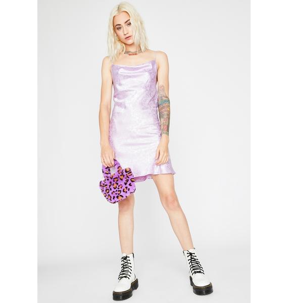 Grape High Class Sass Satin Dress