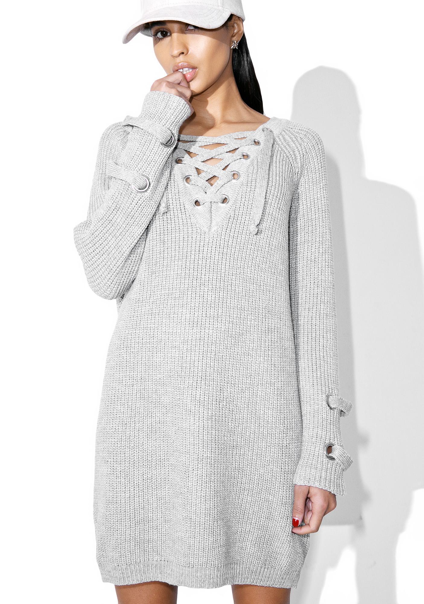 Yawning Sky Lace-Up Sweater