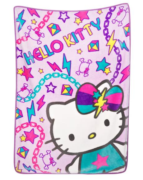 Pastel Pop Hello Kitty Blanket