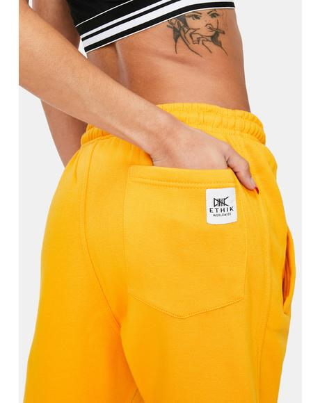 Yellow Modern Life Sweatpants