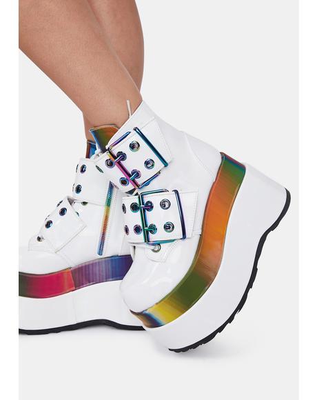 Disco Rhythm Platform Boots