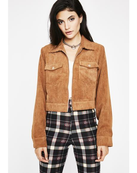 Sahara Make Ya Blush Corduroy Jacket