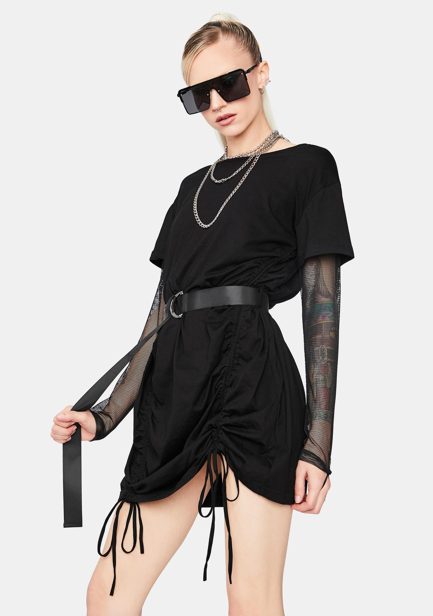 Wasted Ambition Belted T-Shirt Dress