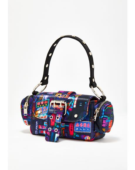 Midnight City Buckle Bag