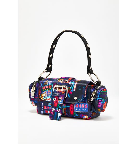 Current Mood Midnight City Buckle Bag