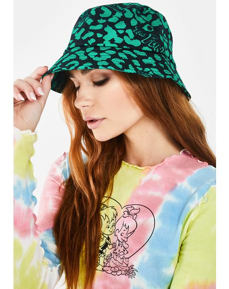 X Flintstones Dino Leopard Bucket Hat