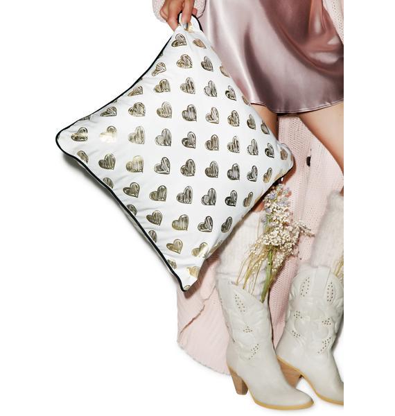 Pillows & Fibers Ur Heart Is Golden Pillow