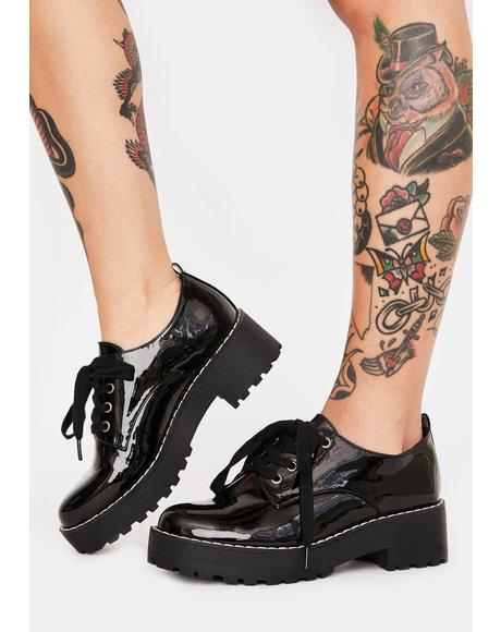 Bad Gals Club Patent Oxfords