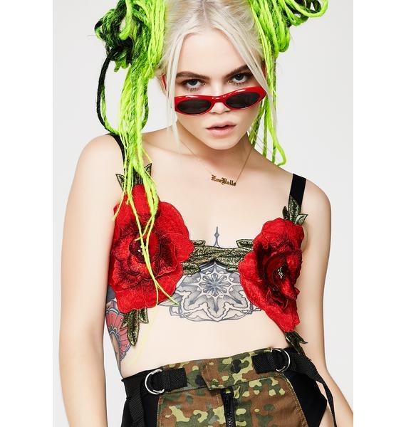 Kiki Riki Smell Tha Roses Bra Top