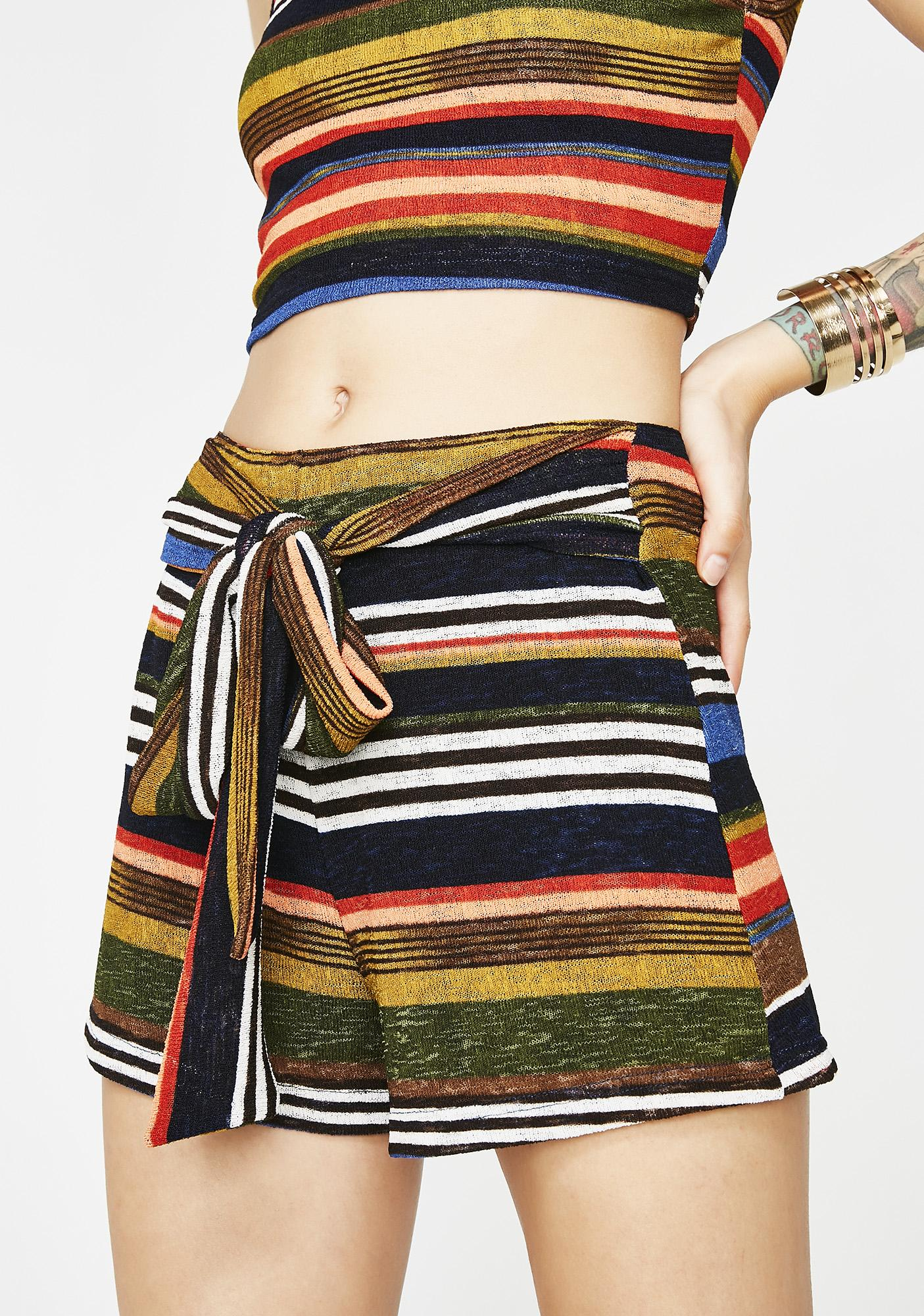 Deja Vu Striped Shorts