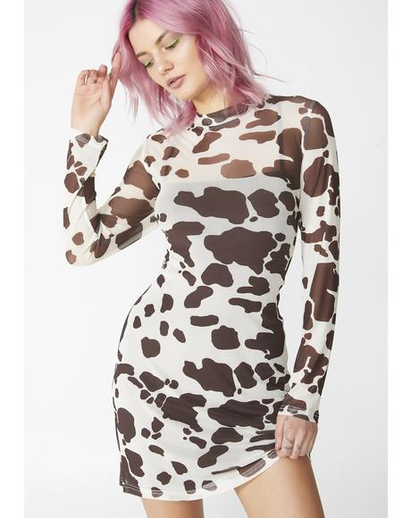 Dairy Qween Mesh Dress