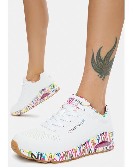 x JGoldcrown Loving Love Uno Sneakers