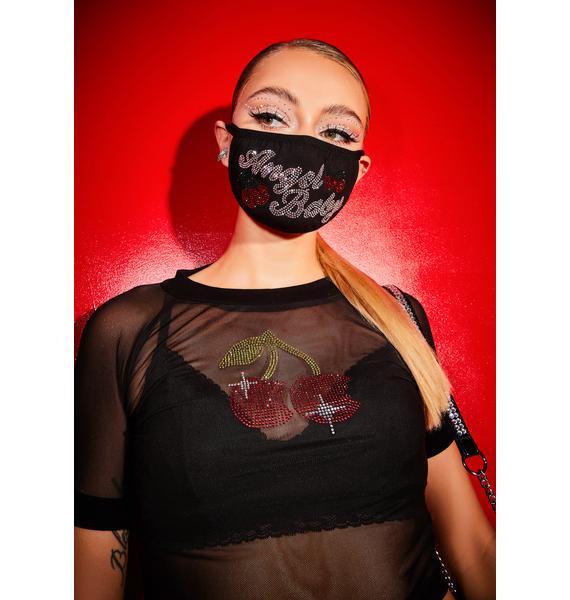 Poster Grl Angel Baby Rhinestone Face Mask