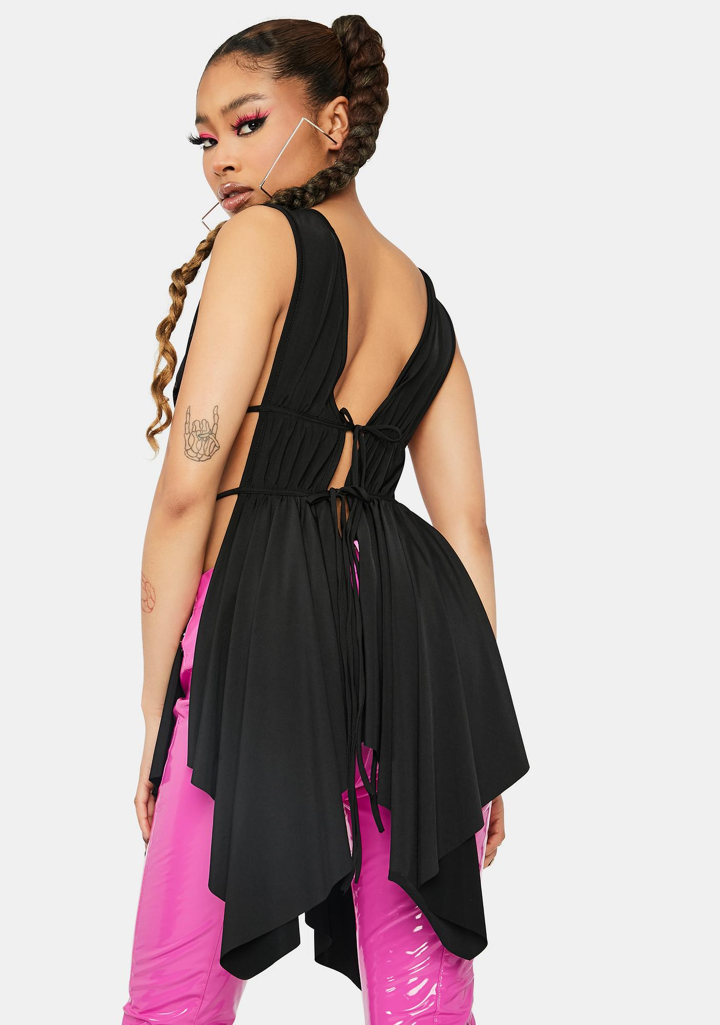 Night This Part Of Town Open Drape Tank Top