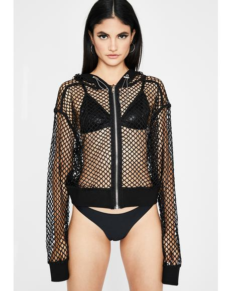 Sneak Peek Fishnet Jacket
