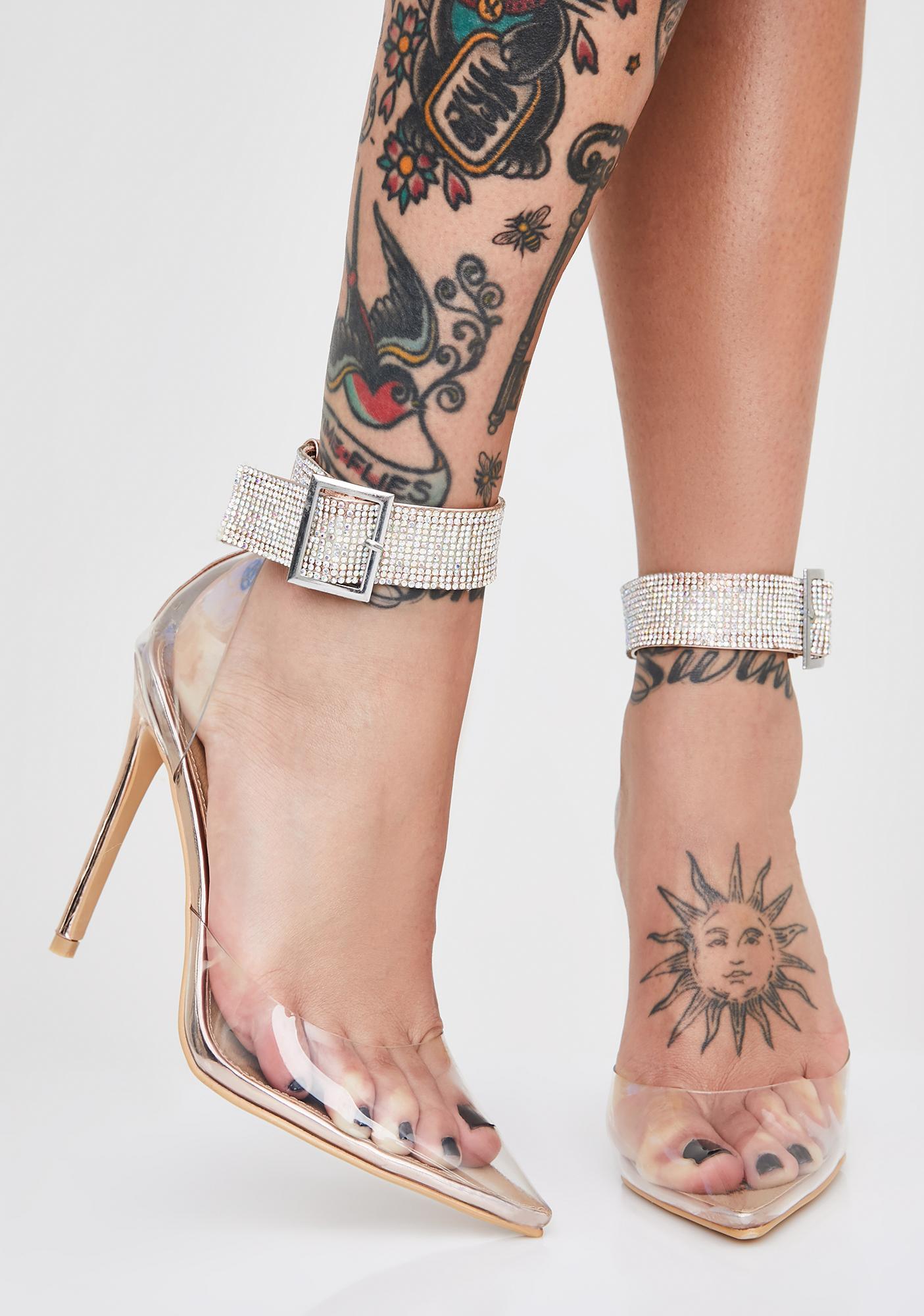 Crystal Dimension Rhinestone Heels