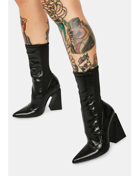 Callous N Cordial Power Mesh Sock Heels