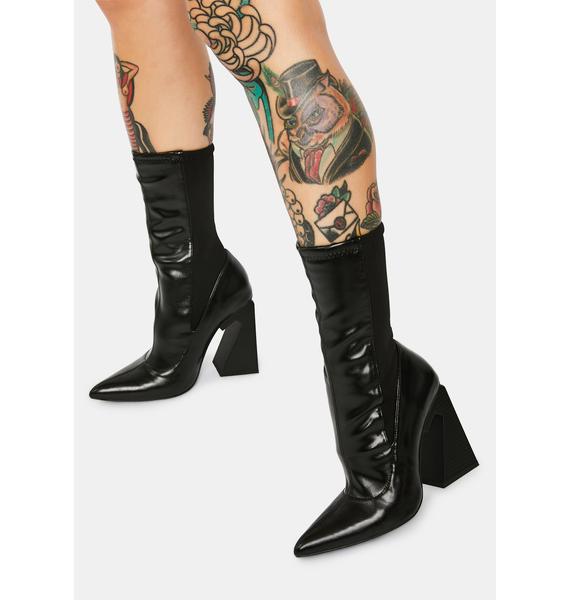 Poster Grl Callous N Cordial Power Mesh Sock Heels