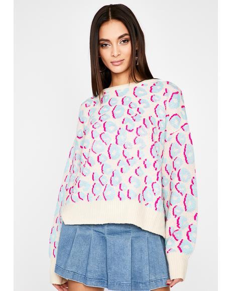 Delightful Sass Leopard Sweater
