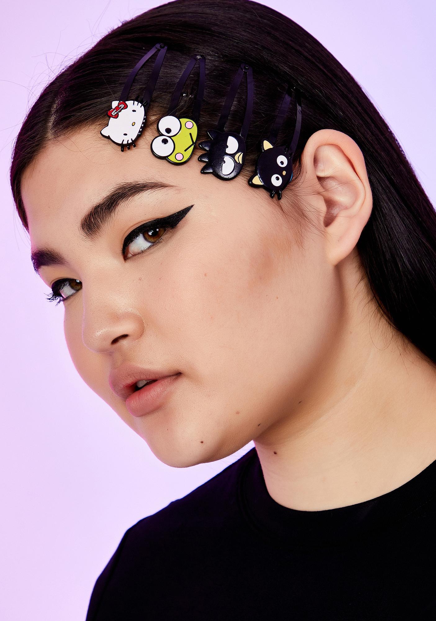 Dolls Kill x Hello Kitty Besties In Arms Hair Clip Set