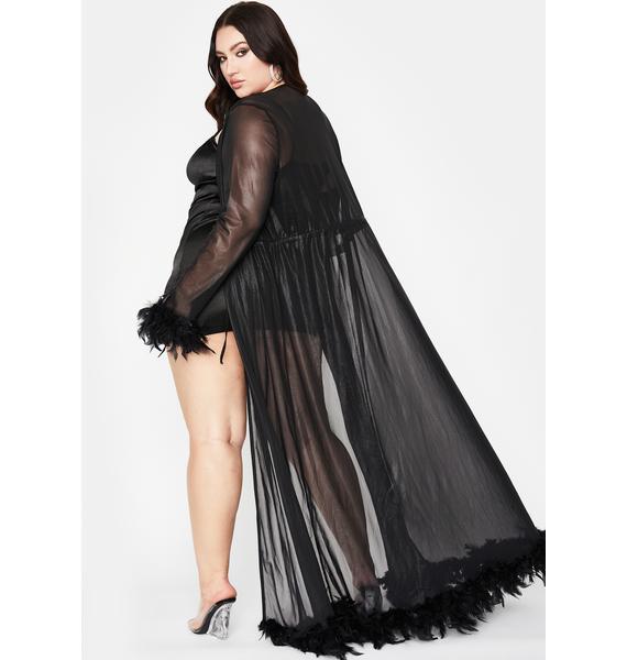 Miss Blissful Baddie Feather Robe