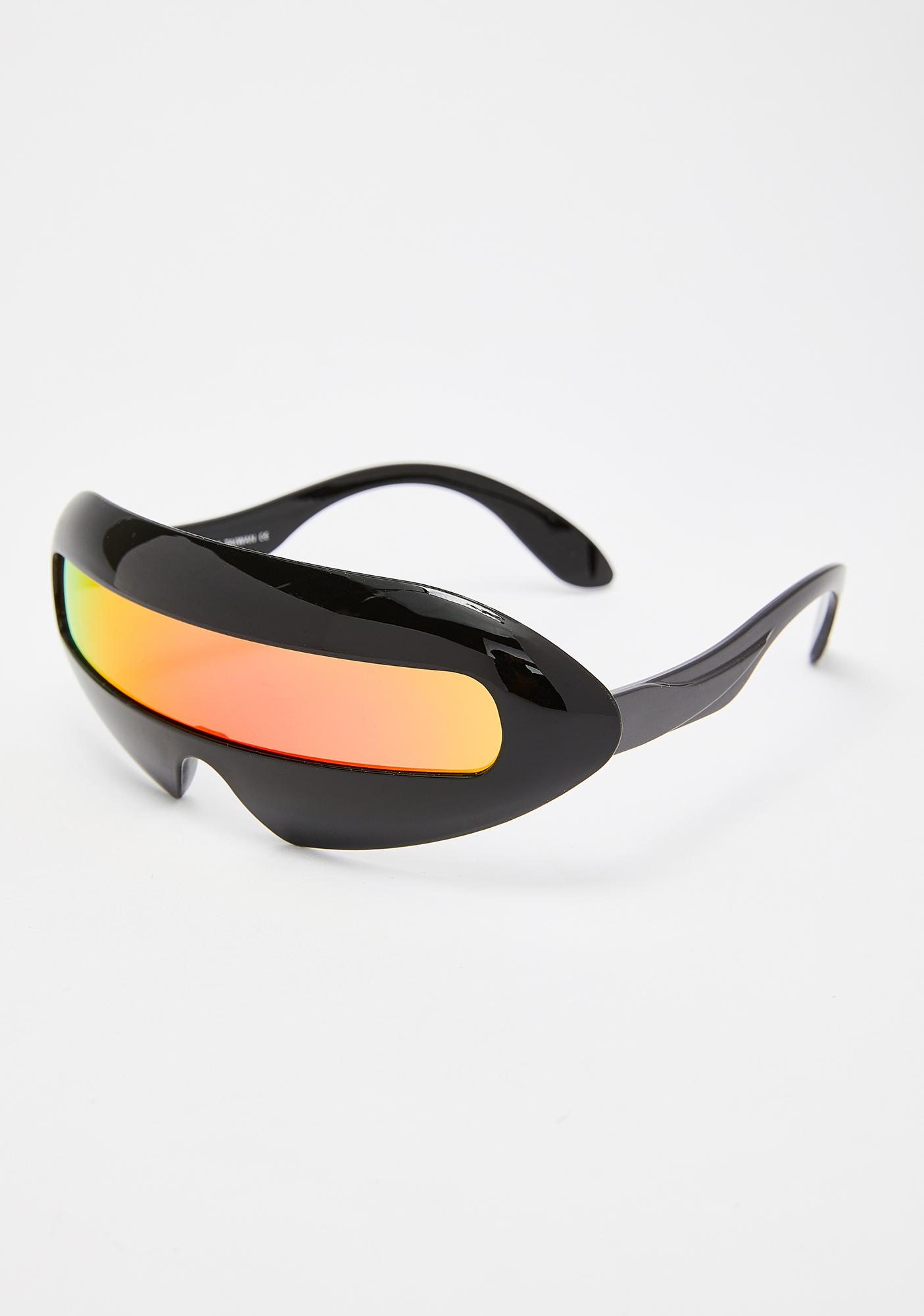 Replay Vintage Sunglasses Fire Revo Shield Sunglasses