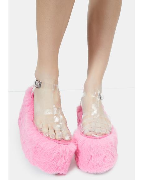 Pink Zahara Platform Sandals