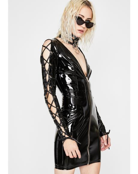 Haute Hellcat Vinyl Dress
