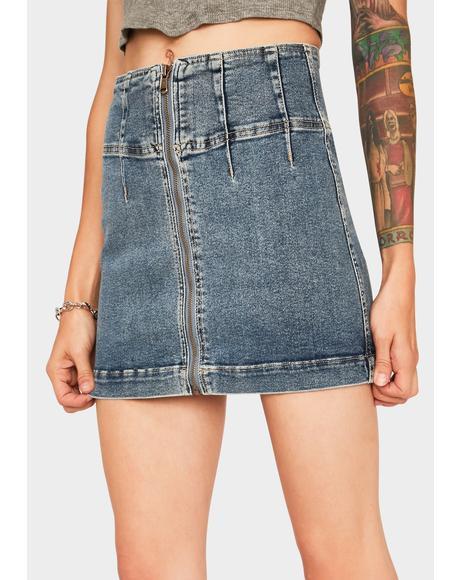 Virgo Denim Mini Skirt
