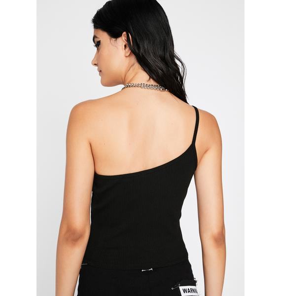 All Night N' All Day One Shoulder Tank