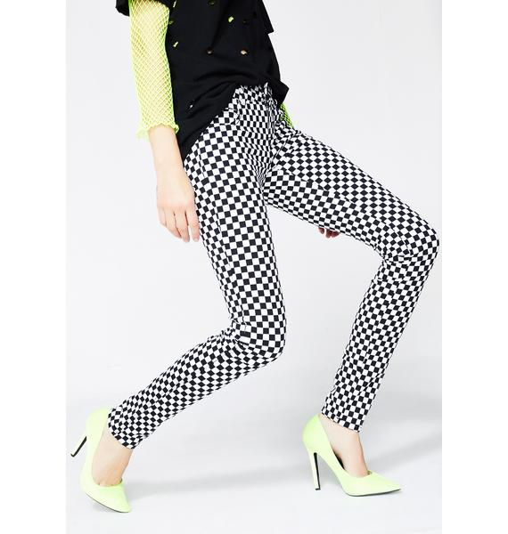 Tripp NYC Checkerboard T-Back Jeans