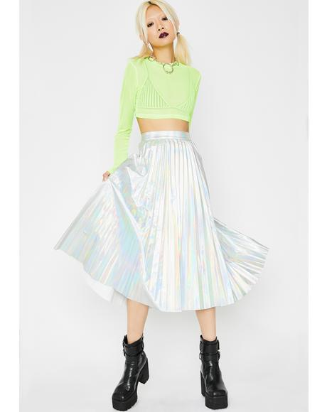 Cosmic Reign Hologram Skirt