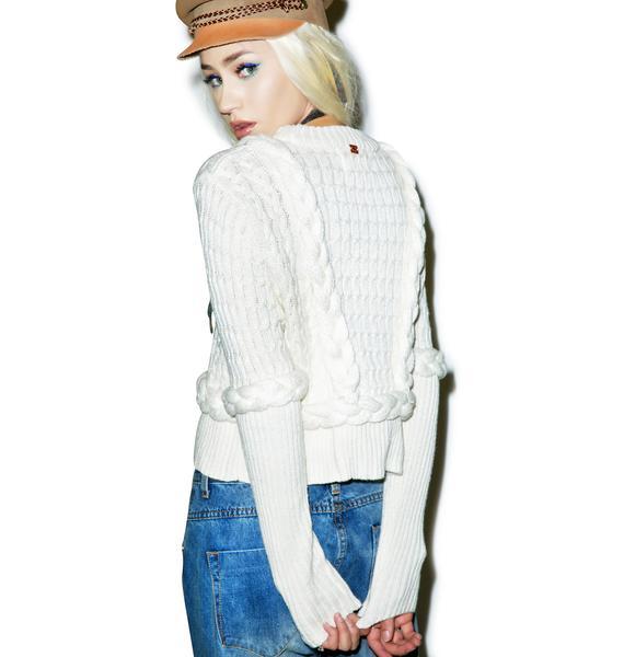 For Love & Lemons Billy Crop Sweater