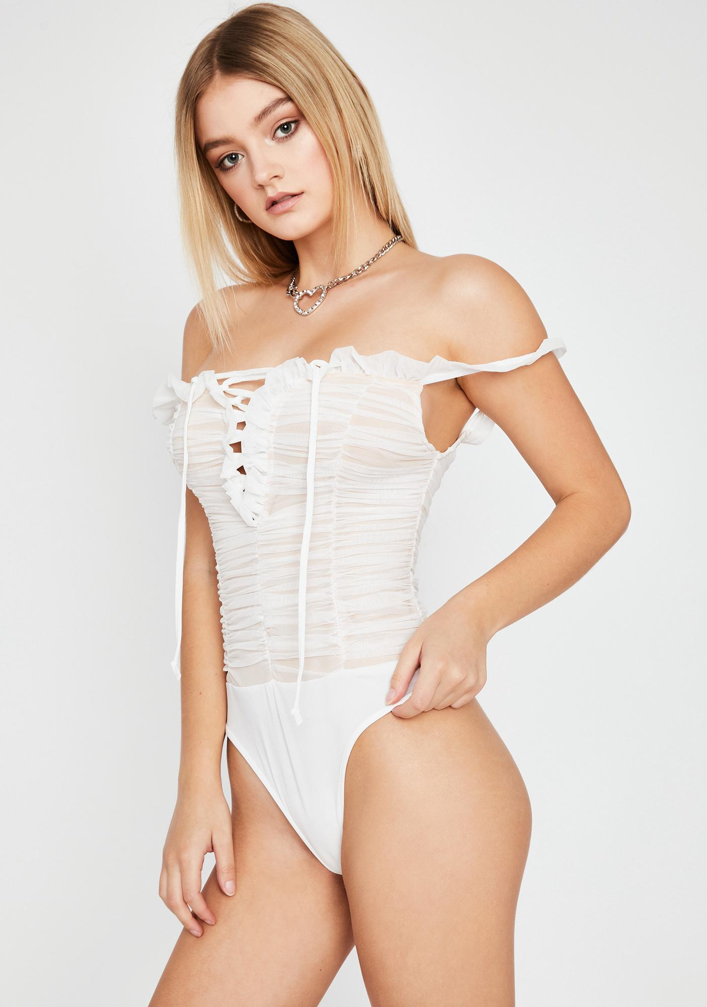 Pure Trend Appeal Ruched Bodysuit