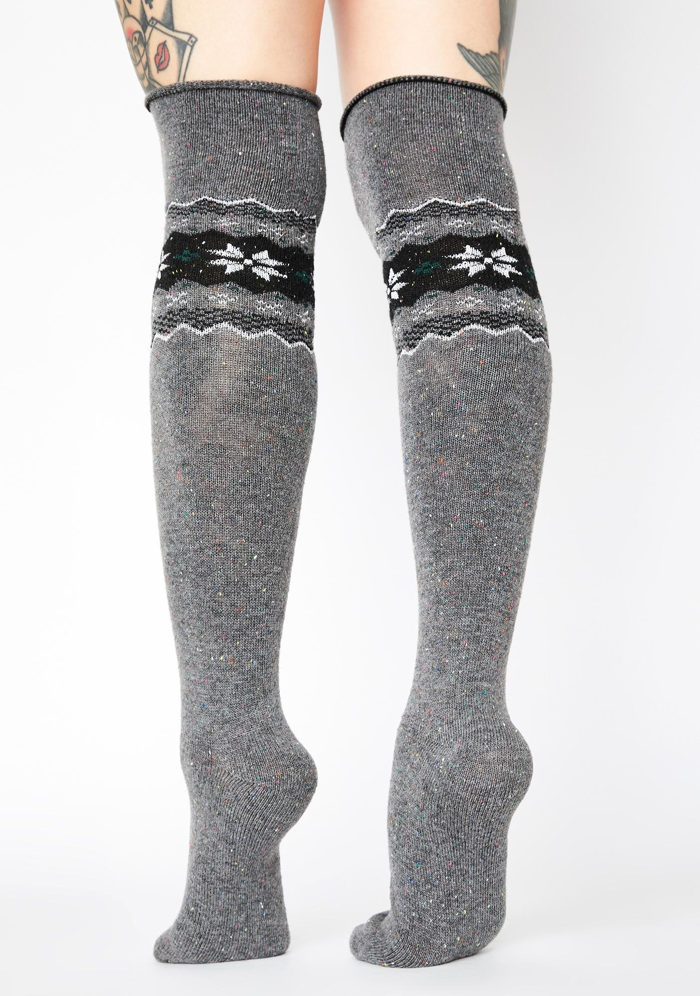 MeMoi Heather Nordic Sparks Over The Knee Socks