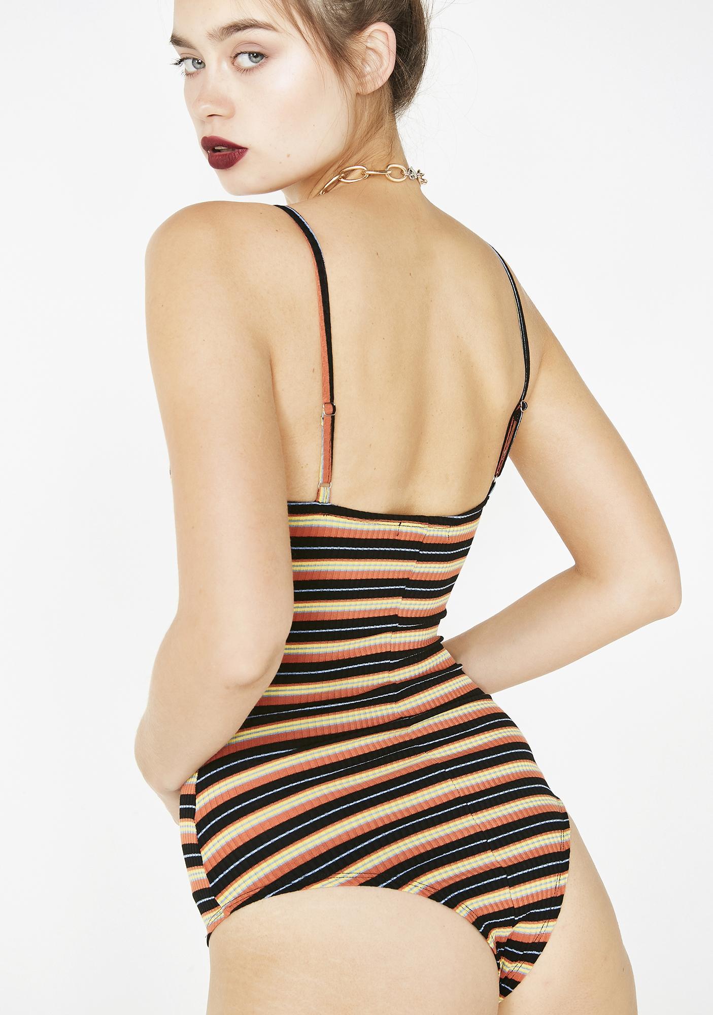 ... Keep On Wishing Striped Bodysuit f4e37b21d